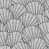 Marine seamless pattern with stylized seashells. Background made without clipping mask. Easy to use for backdrop Stock Images