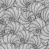 Marine seamless pattern with stylized seashells. Background made without clipping mask. Easy to use for backdrop Royalty Free Stock Images