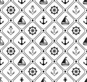 Marine seamless pattern. Suitable for wallpaper, paper, decoration. Royalty Free Stock Images