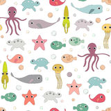 Marine seamless Pattern. Royalty Free Stock Images