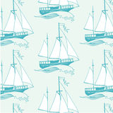 Marine seamless pattern. Stock Images