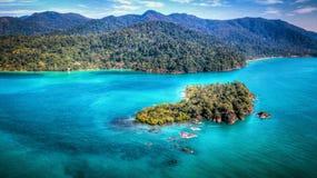 Marine seascape. Marine tropical seascape. Ko Chang. Thailand. December 2017 royalty free stock image