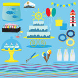 Marine set for celebration Royalty Free Stock Photos