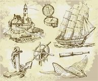 Marine set, high quality collection Stock Photo