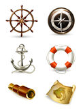 Marine set, high quality icons Stock Image