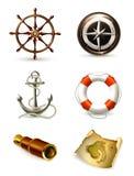 Marine Set, High Quality Icons Stock Image
