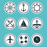 Marine  set Royalty Free Stock Photography