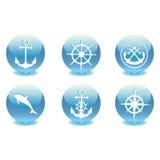 Marine set. Vector illustration Stock Images