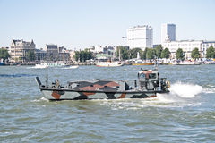 Marine ship is cruising in Rotterdam the Netherlands Royalty Free Stock Photo