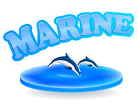 Marine sign Stock Image