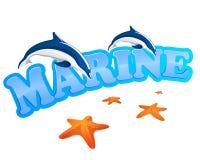Marine sign Royalty Free Stock Photos