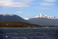 Marine sign in the Beagle channel. royalty free stock photography