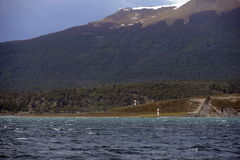 Marine sign in the Beagle channel. Stock Images