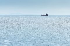 Marine sketches. Peter the Great Bay. Spring Stock Photo