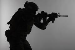 Marine Special Operator kontur Royaltyfria Bilder