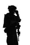 Marine Special Operator kontur Royaltyfri Foto