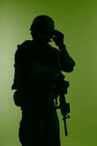 Marine Special Operator kontur Arkivbilder
