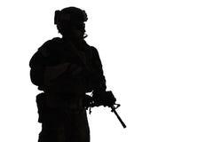 Marine Special Operator-silhouet royalty-vrije stock afbeelding