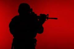 Marine Special Operator-silhouet stock foto's