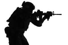 Marine Special Operator silhouette Stock Photography