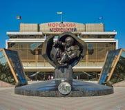 Marine Station i Odessa Arkivfoto