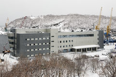 Marine Station in sea port Petropavlovsk-Kamchatsky on Kamchatka Stock Image