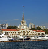 Marine station of Sochi, the Central facade Royalty Free Stock Images