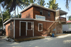 The Marine Station on Tobacco Caye in Belize Stock Photos