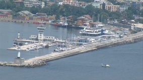 Marine Station of Varna in Bulgaria stock video footage
