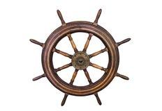 Marine steering wheel isolated Stock Photography