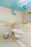 Marine style bathroom Royalty Free Stock Image