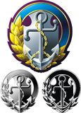 Marine style emblem Stock Photos