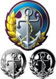 Marine style emblem Stock Photos