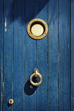 Marine style old door Royalty Free Stock Photos