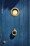 Marine style old door. Marine style old green door Royalty Free Stock Photos