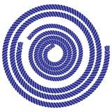Marine style rope element set vector illustration