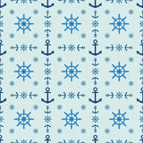 Marine style seamless vector pattern Stock Images