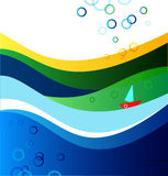 Marine summer banner Royalty Free Stock Photo