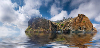 Marine summer landscape Royalty Free Stock Photo