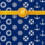 Marine Summer Pattern illustration stock