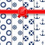 Marine Summer Seamless Pattern illustration libre de droits