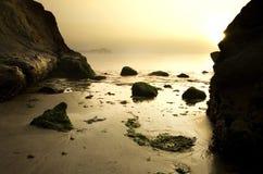 Marine sunrise scenic at Half Moon Bay Royalty Free Stock Photography
