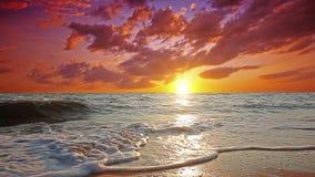 Marine sunset. 4K. FULL HD, 4096x2304. Royalty Free Stock Photos