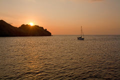 Marine sunset, Indonesia Royalty Free Stock Photos