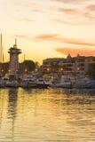 Marine Sunset Iv Stock Image