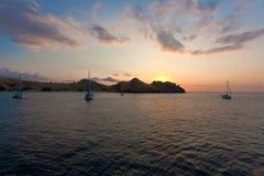 Marine sunset, Komodo Royalty Free Stock Photo