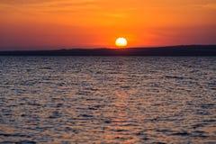 Marine sunset on Taman Gulf. Timelapse. Beautiful sunset on Taman Gulf of Black Sea, amazing colors. Timelapse Stock Photography