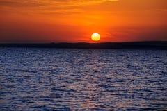 Marine sunset on Taman Gulf. Timelapse. Beautiful sunset on Taman Gulf of Black Sea, amazing colors. Timelapse Stock Images