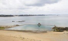 Marine swimming pool from Sain-Malo. France Royalty Free Stock Photo
