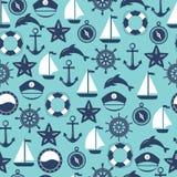 Marine Symbol Éléments nautiques de conception illustration de vecteur